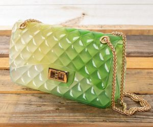 Apples Textured Green Jelly Bag