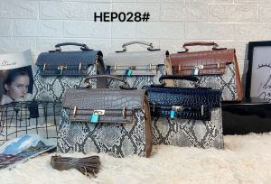 Croco Print Flap Pattern Mini Box Bag HEP028